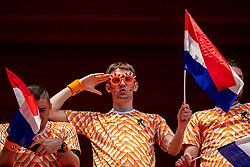 15-06-2019 FRA: Netherlands - Cameroon, Valenciennes<br /> FIFA Women's World Cup France group E match between Netherlands and Cameroon at Stade du Hainaut / Dutch support, fans Orange