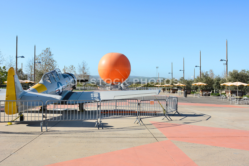 Vintage Airplane and Balloon at the Orange County Great Park Irvine