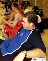 Basket, Eliteturnering Bærum september 2000. Ulrikens trener David Swan.
