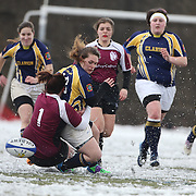 Players in action during the Clarion Vs Molloy Women's College Division game at the Four Leaf 15s Rugby Tournament which attracted over 60 clubs teams from New York and Interstate held at Randall's Island Park, New York,  USA. 21st March 2015. Photo Tim Clayton