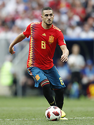 Koke of Spain during the 2018 FIFA World Cup Russia round of 16 match between Spain and Russia at the Luzhniki Stadium on July 01, 2018 in Moscow, Russia