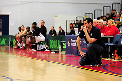 Bristol Academy Flyers' head coach, Andreas Kapoulas - Photo mandatory by-line: Dougie Allward/JMP - Tel: Mobile: 07966 386802 23/03/2013 - SPORT - Basketball - WISE Basketball Arena - SGS College - Bristol -  Bristol Academy Flyers V Essex Leopards