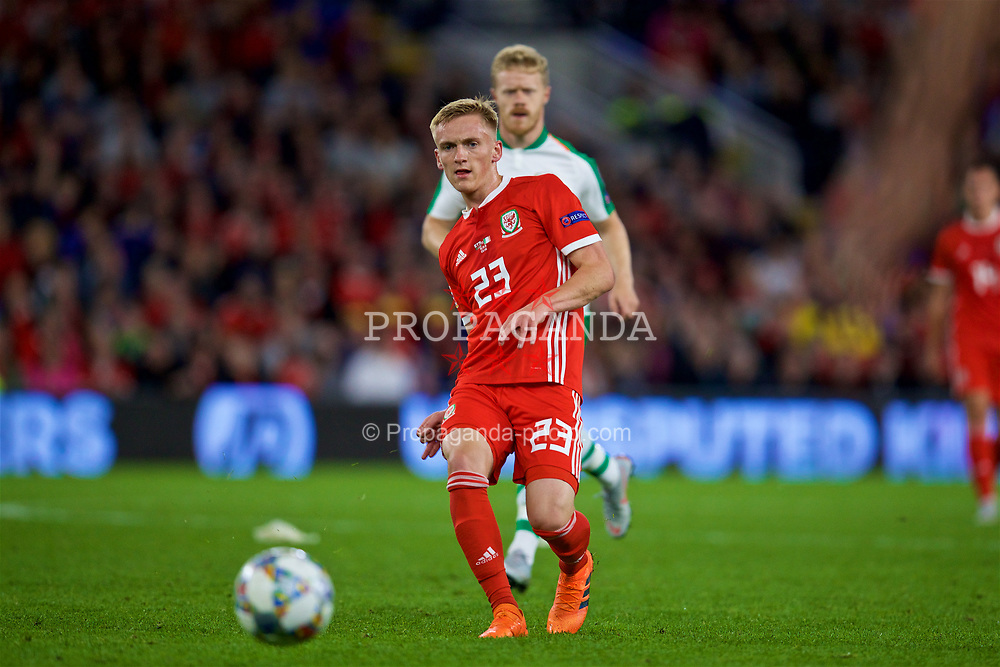 CARDIFF, WALES - Thursday, September 6, 2018: Wales' substitute Matthew Smith during the UEFA Nations League Group Stage League B Group 4 match between Wales and Republic of Ireland at the Cardiff City Stadium. (Pic by David Rawcliffe/Propaganda)
