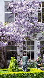 © Licensed to London News Pictures. 11/05/2015. Richmond, UK People enjoy the hot weather  in the ornamental gardens at Richmond Park, West London, today 11th May 2015. Photo credit : Stephen Simpson/LNP