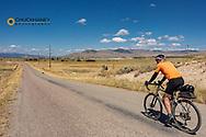 Joe Grabowski gravel bike riding from Polson to Hot Springs, Montana on Little Bitterroot Road USA model released