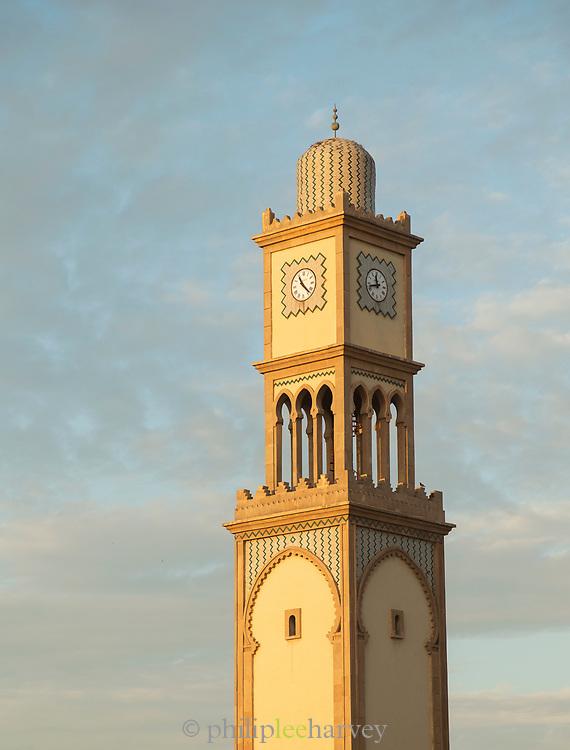 Clock tower at Old Medina in Casablanca, Morocco