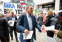 © Licensed to London News Pictures. 04/09/2018. London, UK. NEC Chair ANDY KERR arrives at Labour Party headquarters in London to attend a National Executive Committee meeting. The Labour Party's ruling body is expected to vote on whether to adopt, in full, the IHRA (International Holocaust Remembrance Alliance) definition of anti-Semitism. Photo credit: Ben Cawthra/LNP