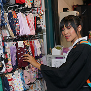 London, England, UK. 14th July 2017. Hundreds attend the Japanese culture - Hype Japan 2017 and dress up in expressions of Cosplay, Cartoon characters and much more food and sovereign stalls at Tobacco Dock.
