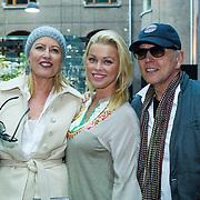 NLD/Amsterdam/20130916 -  Modeshow Jos Raak in het Conservatorium hotel, Bridget Maasland met haar ouders Frits en Elly Maasland