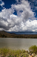 Thunder storm develpoing over  Lake Maloya.  Sugarite Canyon State Park, New Mexico.