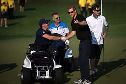 Prince Harry greets competitors during men's golf at the Invictus Games in Toronto, ON, Canada, on Tuesday, Sept. 26, 2017. Photo by Chris Donovan/CP/ABACAPRESS.COM
