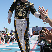 Brendan Gaughan is seen during driver introductions for the 60th Annual NASCAR Daytona 500 auto race at Daytona International Speedway on Sunday, February 18, 2018 in Daytona Beach, Florida.  (Alex Menendez via AP)
