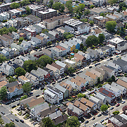Aerial footage shows a New York City suburb that looks virtually empty with closed businesses and limited traffic due to the Coronavirus (Covid-19) outbreak along with the continuing protests due to the police killing of George Floyd on Monday, June 1, 2020 in New York City.  Nonessential businesses have been closed and large gatherings have been banned across the state since March 22 under an emergency order issued by Governor Cuomo and an 11 p.m. curfew was ordered by NY Mayor Bill de Blasio amid the Floyd protests. (Alex Menendez via AP)