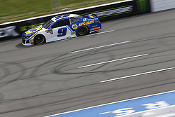 June 1, 2018 - Long Pond, Pennsylvania, United States of America - Chase Elliott (9) brings his car down the frontstretch during qualifying for the Pocono 400 at Pocono Raceway in Long Pond, Pennsylvania. (Credit Image: © Chris Owens Asp Inc/ASP via ZUMA Wire)