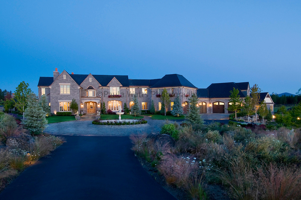 Classic architectural exterior of residential home in Bend Oregon