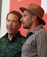 Actors Reda Kateb and Matthias Schoenaerts at the photocall for the film Freres Ennemis (Close Enemies) at the 75th Venice Film Festival, on Saturday 1st September 2018, Venice Lido, Italy.