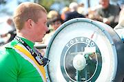 2  April, 2011:  Jockey Darren Nagle weighs back in after the Woodward Kirkover hurdle race.