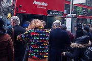 Commuters queue during the 24hr tube strike affecting Londoners and passengers throughout the capital, on 9th January, at Victoria Station, London, England. The industrial action, coordinated by the Rail, Maritime and Transport (RMT) union and the Transport Salaried Staff's Association (TSSA), closed the vast majority of underground lines.
