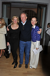 Left to right, ALISON JACKSON, RICHARD HUDSON and BETTINA VON HASE at the Whitechapel Gallery Art Plus Opera gala in association with Swarovski held at the Whitechapel Gallery, London on 15th March 2012.