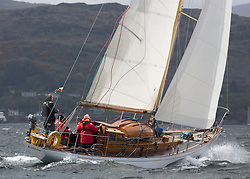 Day one of the Silvers Marine Scottish Series 2015, the largest sailing event in Scotland organised by the  Clyde Cruising Club<br /> Racing on Loch Fyne from 22rd-24th May 2015<br /> 312C, Kelana, James Grant, RNCYC, McGruer Sloop<br /> <br /> <br /> Credit : Marc Turner / CCC<br /> For further information contact<br /> Iain Hurrel<br /> Mobile : 07766 116451<br /> Email : info@marine.blast.com<br /> <br /> For a full list of Silvers Marine Scottish Series sponsors visit http://www.clyde.org/scottish-series/sponsors/