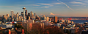 Winter panorama of Seattle skyline from Kerry Park
