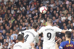 March 2, 2019 - Madrid, Madrid, Spain - Karim Benzema (forward; Real Madrid) in action during La Liga match between Real Madrid and FC Barcelona at Santiago Bernabeu Stadium on March 3, 2019 in Madrid, Spain (Credit Image: © Jack Abuin/ZUMA Wire)