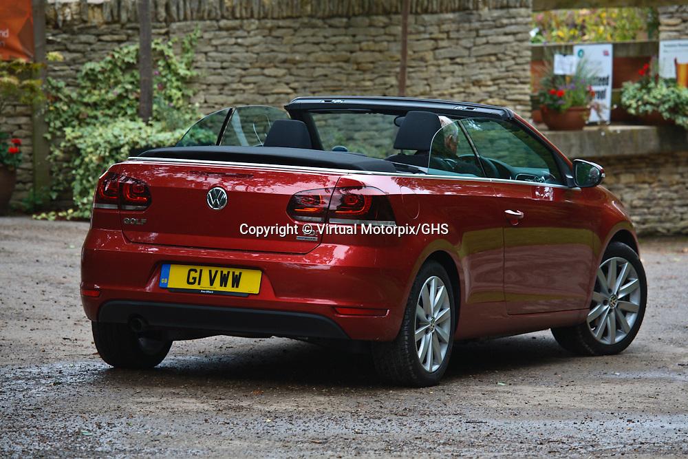 VW Golf TDI, Cabriolet, Blue Motion, Launch 2011, at Tetbury, Arboretum, United Kingdom