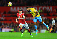 Angel di Maria of Manchester United and Adrian Mariappa of Crystal Palace - Manchester United vs. Crystal Palace - Barclay's Premier League - Old Trafford - Manchester - 08/11/2014 Pic Philip Oldham/Sportimage
