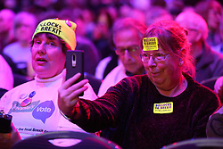 © Licensed to London News Pictures. 09/12/2018. London, UK. People arrives at the Best for Britain and the People's Vote campaign's rally in ExCel Centre in East London on the eve of the week in which Parliament will vote on Prime Minister Theresa May's Brexit withdrawal deal.  Photo credit: Dinendra Haria/LNP