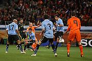 ©Jonathan Moscrop - LaPresse<br /> 06 07 2010 Cape Town ( Sud Africa )<br /> Sport Calcio<br /> Uruguay vs Olanda - Mondiali di calcio Sud Africa 2010 Semi finale - Stadio Punto Verde<br /> Nella foto: la rete del 2-1 di Wesley Sneijder<br /> <br /> ©Jonathan Moscrop - LaPresse<br /> 06 07 2010 Cape Town ( South Africa )<br /> Sport Soccer<br /> Uruguay versus Holland - FIFA 2010 World Cup South Africa Semi final - Green Point Stadium<br /> In the photo: Holland's Wesley Sneijder slots the ball home to give the side a 2-1 lead