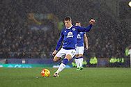 Ross Barkley of Everton takes a free kick. Barclays Premier League match, Everton v Newcastle United at Goodison Park in Liverpool on Wednesday 3rd February 2016.<br /> pic by Chris Stading, Andrew Orchard sports photography.