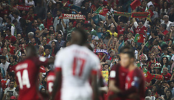 October 10, 2017 - Lisbon, Portugal - Portugal suporters celebrating their victory  with temmates during the FIFA 2018 World Cup Qualifier match between Portugal and Switzerland at the Luz Stadium on October 10, 2017 in Lisbon, Portugal. NURPHOTO / CARLOS COSTA  (Credit Image: © Carlos Costa/NurPhoto via ZUMA Press)