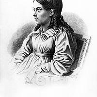 Elisabeth Van Arnin dite Bettina nee Brentano (1785-1859) femme de lettres allemande epouse d'Achim. Elle fut la correspondante deGoethe et une amie deBeethoven. Elle consacra la fin de sa vie a rediger des etudes sociales  ---  Elisabeth Van Arnin (1785-1859) german woman of letters friend ofGoethe andBeethoven, engraving<br /> <br /> Copyright Rue Des Archives/Writer Pictures<br /> <br /> NO FRANCE, NO AGENCY SALES