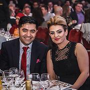 CEO of British Kebab Awards Ibrahim Dogus and wife Raife Aytek attends the 5th British Kebab Awards at Park Plaza Westminster ,London,UK. by See Li