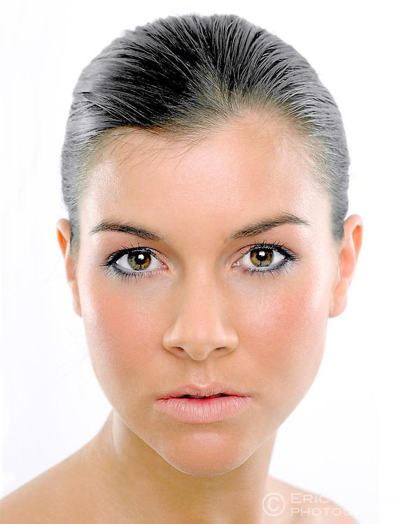 Studio portrait of Imogen Thomas, (Miss Wales 2003).