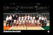 2012 Miami Hurricanes Women's Basketball Team Photo