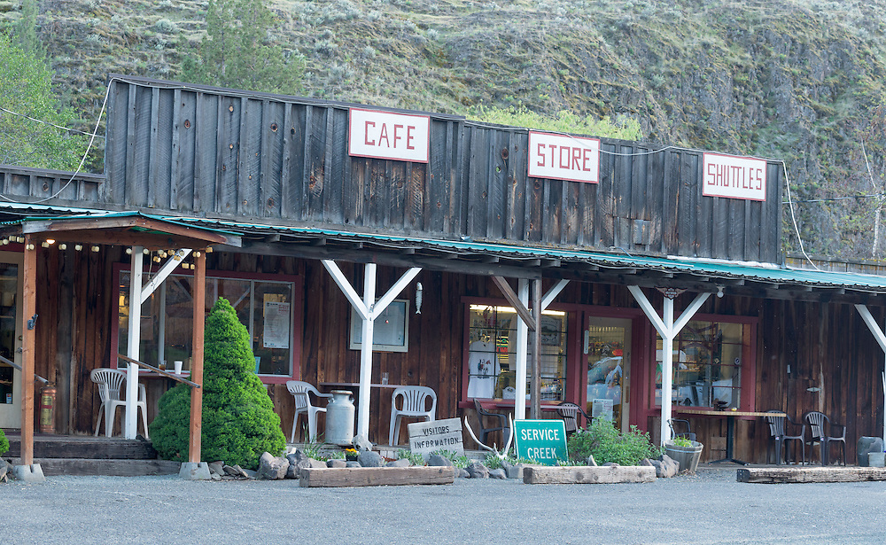 Service Creek Stage Stop next to John Day River in Wheeler County, Oregon.