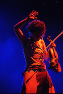 DURBAN - 10 April 2006 - Kyla Rose Smith, violinist and vocalist of the popular South African band FreshlyGround seen here performing as a support act to Robbie Williams in Durban's Absa Stadium..Picture: Giordano Stolley
