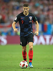 Croatia's Andrej Kramaric during the FIFA World Cup, Semi Final match at the Luzhniki Stadium, Moscow. PRESS ASSOCIATION Photo. Picture date: Wednesday July 11, 2018. See PA story WORLDCUP Croatia. Photo credit should read: Adam Davy/PA Wire. RESTRICTIONS: Editorial use only. No commercial use. No use with any unofficial 3rd party logos. No manipulation of images. No video emulation.