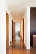 Architecture, empty modern apartment, corridor view