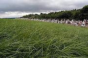 Nederland, Groesbeek, 17-7-2003<br /> De derde dag van de Nijmeegse vierdaagse, 4daagse, is traditioneel de zwaarste, met heuvels in het parcours. Wandelsport, grootschalig wandelevenement, wandelen, recreatie.<br /> Foto: Flip Franssen/Hollandse Hoogte