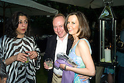 LADY NAIPAUL; MR. AND MRS. ANDREW ROBERTS. Tatler Summer Party. The Hempel. Craven Hill Gdns. London. 25 June 2008 *** Local Caption *** -DO NOT ARCHIVE-© Copyright Photograph by Dafydd Jones. 248 Clapham Rd. London SW9 0PZ. Tel 0207 820 0771. www.dafjones.com.