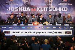 27 April 2017 - Boxing - Anthony Joshua v Wladimir Klitschko Press conference -- Photo: Marc Atkins / Offside.