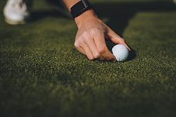 THEMENBILD - Hand eines Golfspielers und eine Golfball am Green. Golfplätze dürfen ab heute nach dem Lock Down wieder öffnen, aufgenommen am 01. Mai 2020 in Zell am See, Oesterreich // Hand of a golf player and a golf ball on the green. Golf courses are allowed to reopen after the lock down in Zell am See, Austria on 2020/05/01. EXPA Pictures © 2020, PhotoCredit: EXPA/ JFK