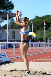 Erica Jarder of Sweden competing in the long jump. Folksam Grand Prix Göteborg, Slottskogsvallen, 14. juni 2014.