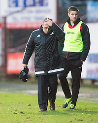 Ayr United's manager Ian McCall at the end. <br /> Dunfermline 3 v 2 Ayr United, Scottish League One played at East End Park, 13/2/2016.