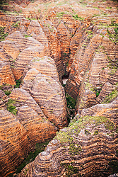 Aerial view of Echidna Chasm in the Bungle Bungles, East Kimberley.