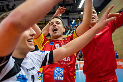 17-02-2019 NED: National Cupfinal Draisma Dynamo - Abiant Lycurgus, Zwolle<br /> Dynamo surprises national champion Lycurgus in cup final and beats them 3-1 / Bart van Garderen #3 of Dynamo