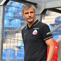 29.09.2019, Carl-Benz-Stadion, Mannheim, GER, 3. Liga, SV Waldhof Mannheim vs. FC Hansa Rostock, <br /> <br /> DFL REGULATIONS PROHIBIT ANY USE OF PHOTOGRAPHS AS IMAGE SEQUENCES AND/OR QUASI-VIDEO.<br /> <br /> im Bild: Jens H?rtel / Haertel (Trainer FC Hansa Rostock)<br /> <br /> Foto © nordphoto / Fabisch