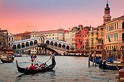 Venice's Canal Grande at sunset